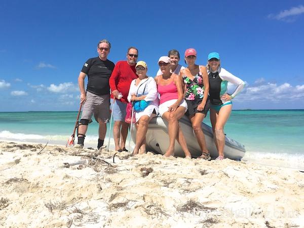 Pam Clark Rambo with Talisman V crew Abacos Bahamas