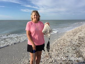 shell collector on Sanibel
