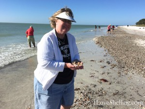 Amy Seeche on Sanibel island shelling