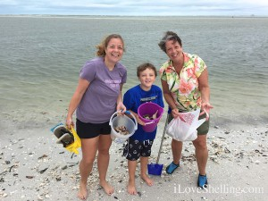Maribeth Tristan Lynne on shelling trip