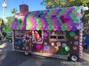 Gingerbread house Captiva golf cart parade
