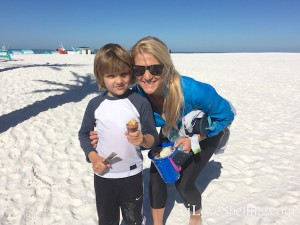 Jett Ashley find shells Clearwater Beach Hilton