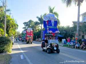captiva golf cart parade nut cracker floats