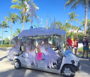 snowflakes Captiva christmas golf cart