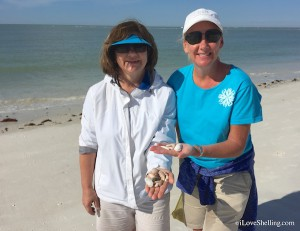 Mary Amy Ohio collect shells in SW Florida