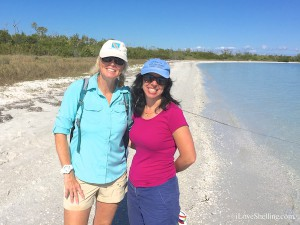 Pam Rambo and Melissa Congress on Cayo Costa