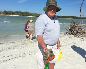 r. g. Stein with live horse conch
