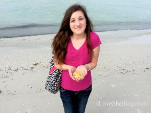Abbey visits Florida from Utah finds sand dollar