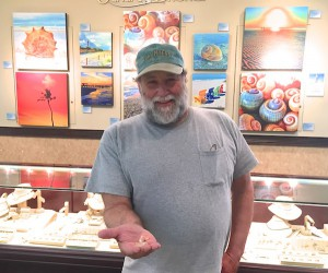 Al with shells to be identified during Pam Rambo art show