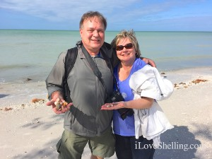 Bill and Linda from PA visit Florida for seashells