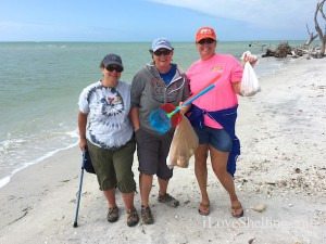 Bonnie michele cindy find shell on Cayo Costa Island Florida