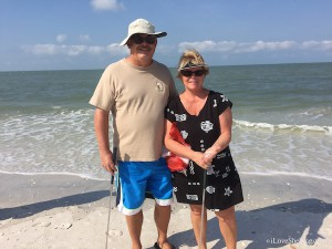 Pam and Gary find angel wings on Big Hickory Island