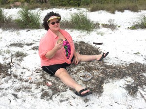 jan from iowa finds beach bling on cayo costa island