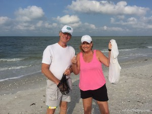 kathy bob from mayaka, florida find angel wing shells