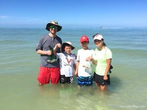 Fredrik, James, Michael, Jinny from VA find shells in FL