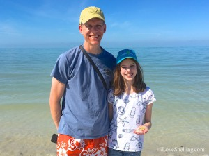 Megan H, Peter from Illinois collecting shells in sw FL