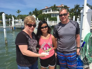 Shelly, Kianna and David MI find angel wing shell Captiva