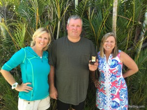 pam rambo, sharon michie with Craig Sanibel ring finder