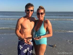 Chris and Jamie MO find Sanibel seashells