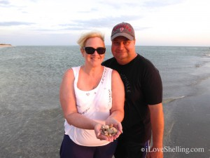 Karen and Mark visit Sanibel for shells from New Jersey