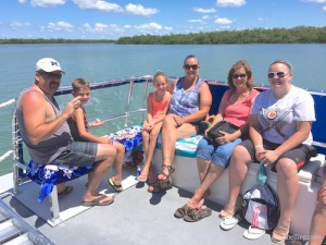New Mexico Brad, Beau, Gillian, Sand, Kathy, Hayley on Florida shelling cruise