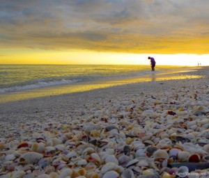 Sanibel stoop at sunset