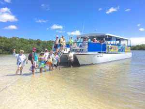 Sea Shell tour boat with Pam Rambo i Love Shelling
