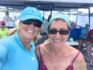 pam rambo i love shelling with Cynthia on shelling adventure