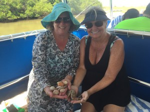 Anne and Debbie find shells SW Floridav