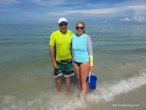 Gary and Debi from Va Beach visit Florida for shells