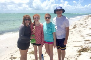 Stacy, Whitney, Windsor and Chris from Jacksonville visit Sanibel