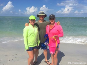 Candace and Leslie from Texas beach combing Florida