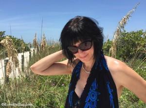 Celeste on Sanibel beach
