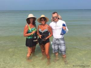 Kristin, Kathy and Nathan (Fargo) beachcombing Florida