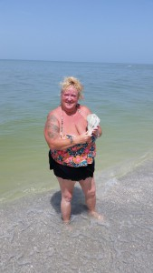 Lainey found lightning whelk blind pass sanibel