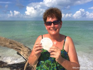 Wendy from Illinois with autographed sand dollar