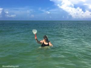 Michelle snorkeling Cayo Costa