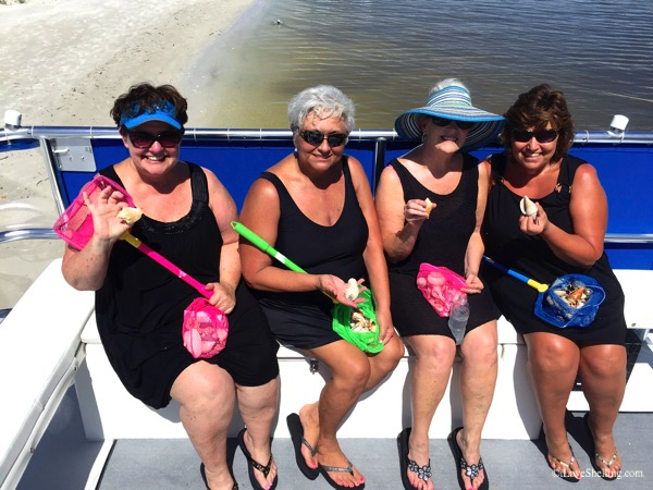 First time shellers Shelley, Mitzy, Linda and Judy from Texas