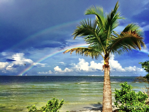 Double Rainbow in Sanibel Paradise