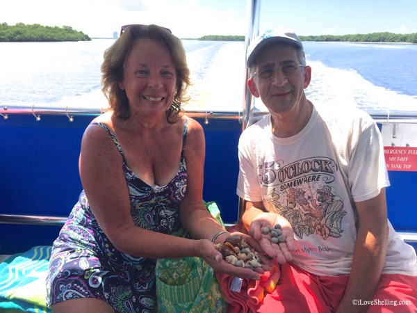 Linda, Mike from New Hampshire find shells in Florida