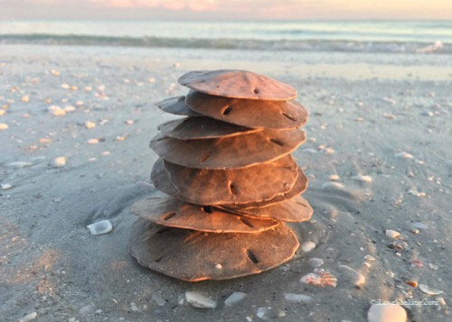 sand dollar beach cairn stack