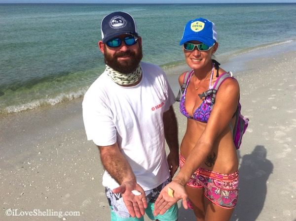 Cazzie and Beth from Fort Myers Beach find shells with iLoveShelling