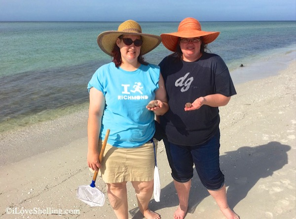 Krys and Mandy visit Sanibel from Virginia for seashells
