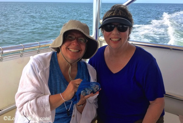 Rena Nancy Boston take shelling cruise Captiva