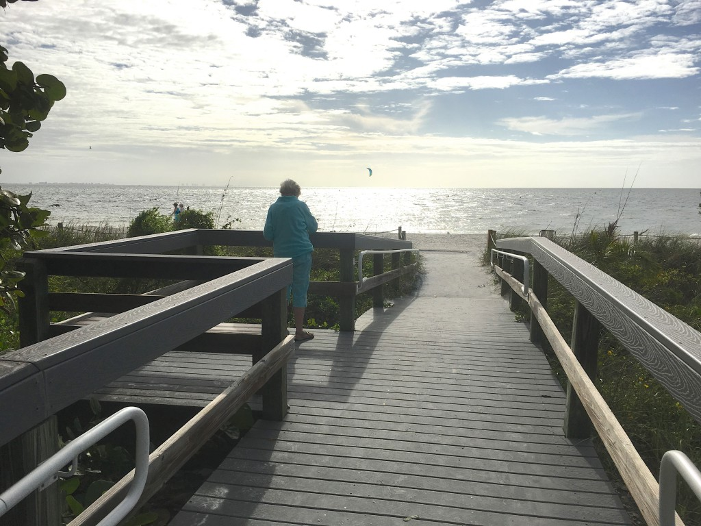 Sanibel lighthouse beach path walk way