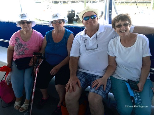 beach combers on a boat trip