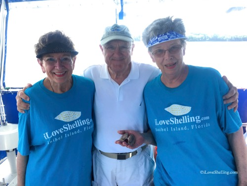iLoveShelling tee shirts on a shell trip