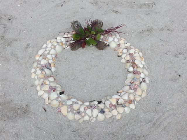 peggy gaylord shell beach art