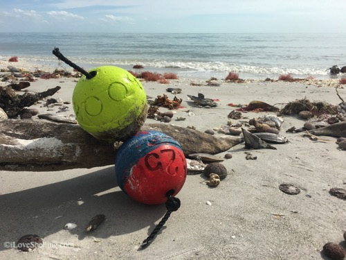 Sanibel beach buoys-1