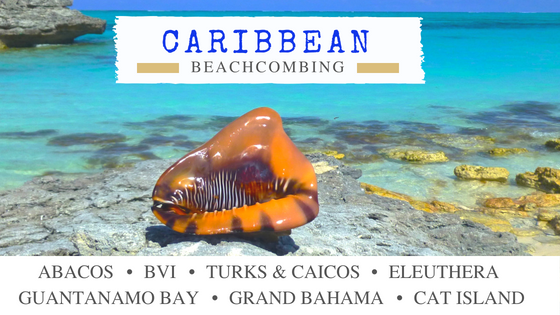 Caribbean beach combing travel destinations